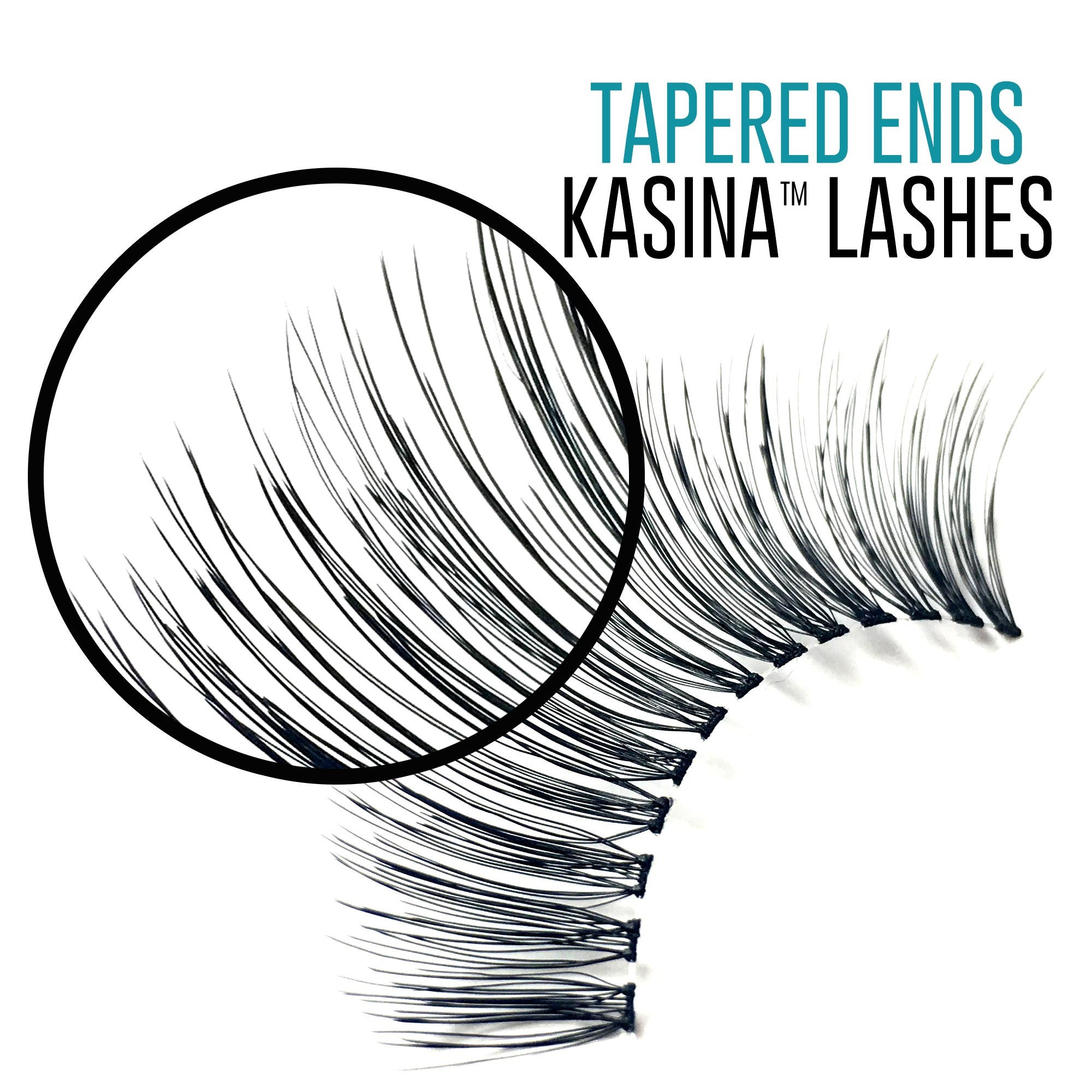 Individual Lashes - Pro #KFDM, Knot Free Double Flare Medium - Recommended by Professional Makeup Artists.