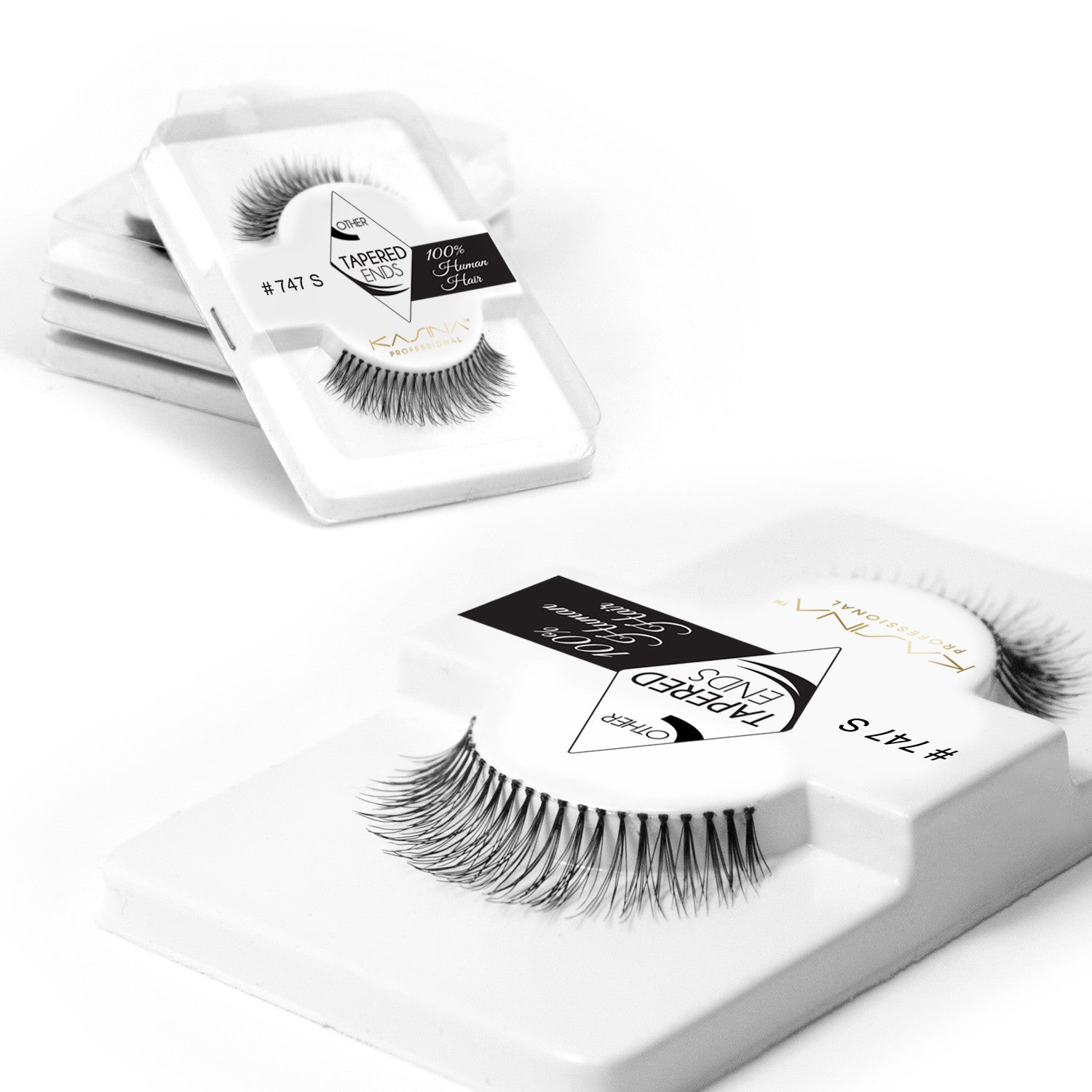 False Lashes - Pack of 6 Multipack - 747S - Recommended by Professional Makeup Artists.
