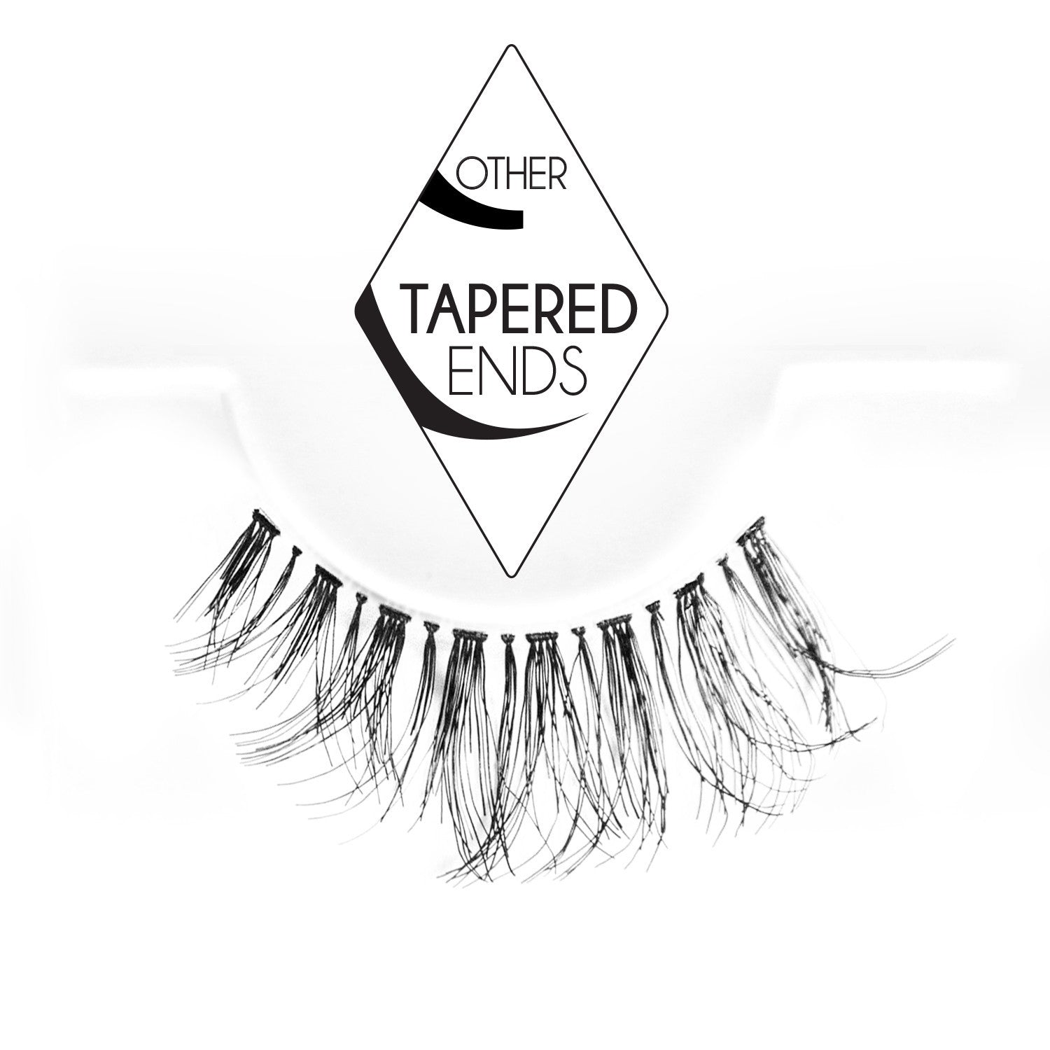 False Lashes - Professional Tapered ends lashes #DW. #Demi Wispies - Recommended by Professional Makeup Artists.
