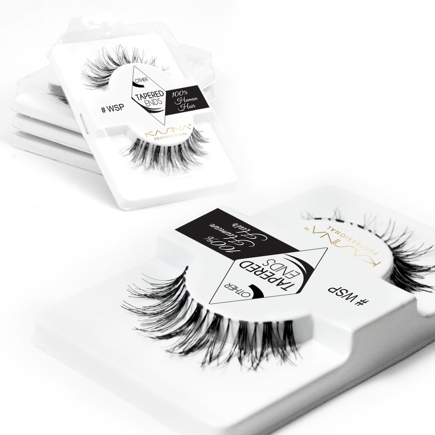False Lashes - Pack of 6 Multipack - Wispies - Recommended by Professional Makeup Artists.