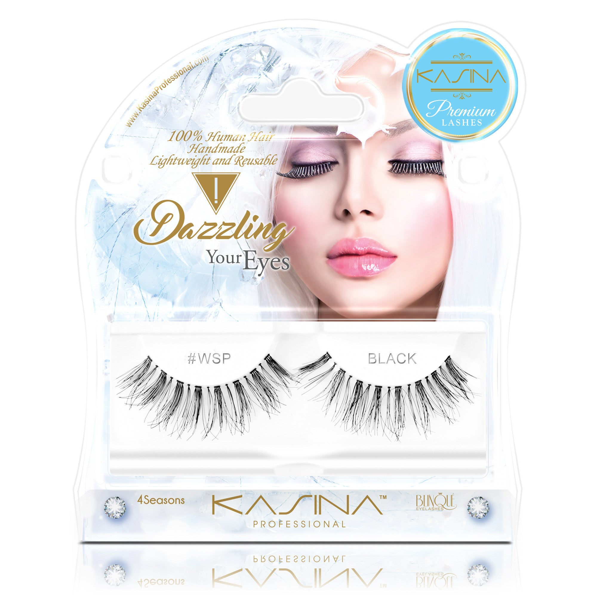 False Lashes - Premium Dazzling #WSP, Wispies - Recommended by Professional Makeup Artists.