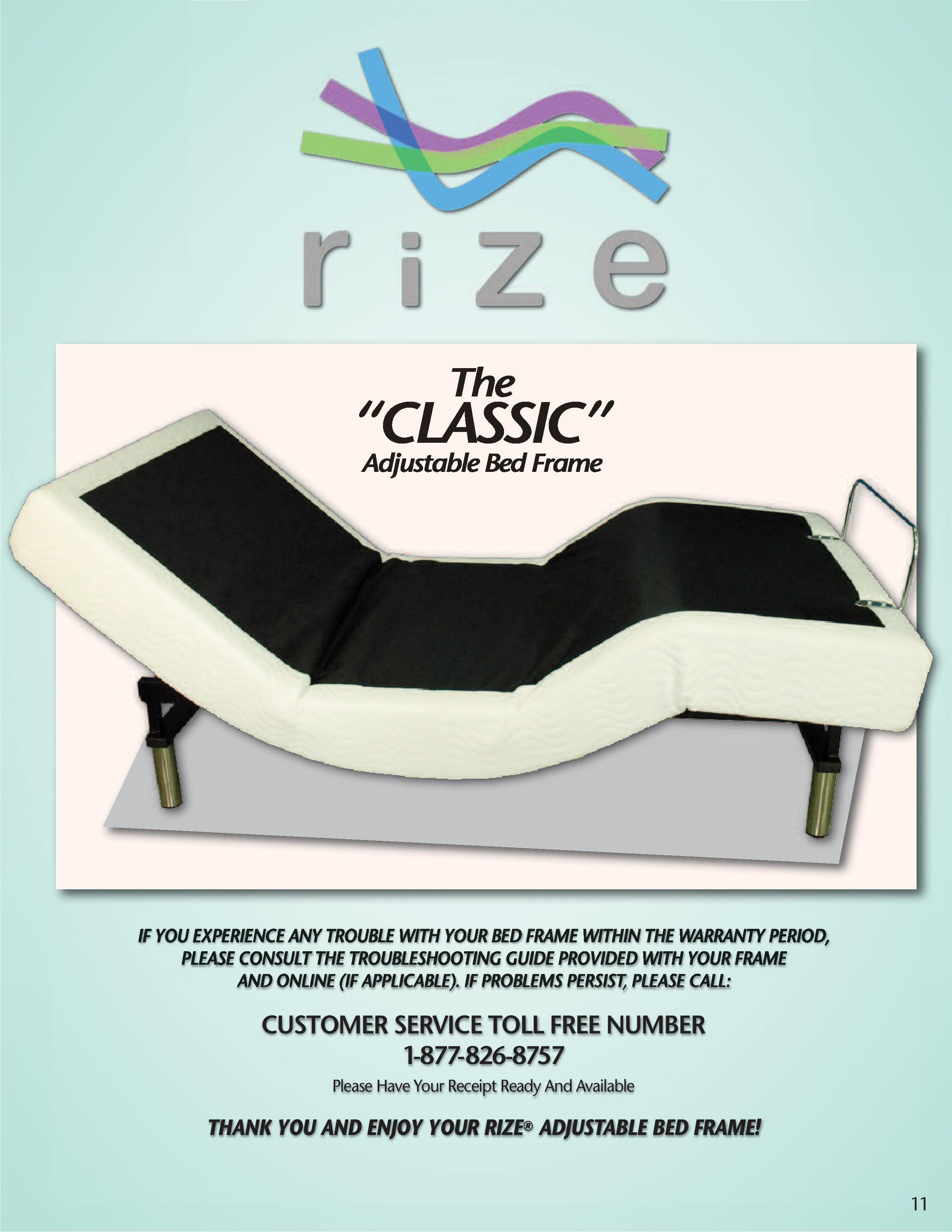 Rize Split Queen Classic Owners Manual