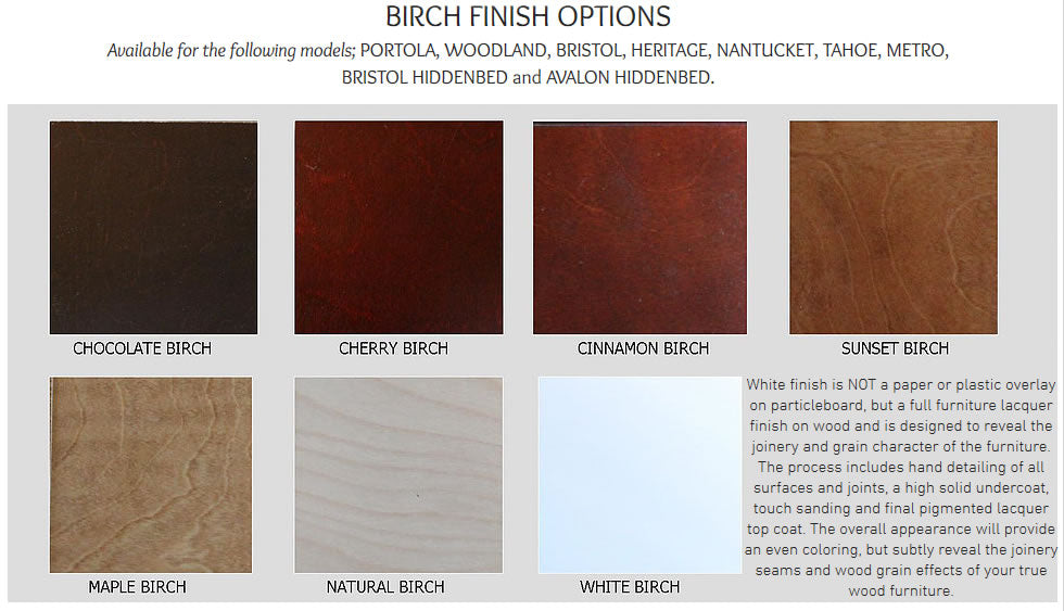 Birch Finish Options