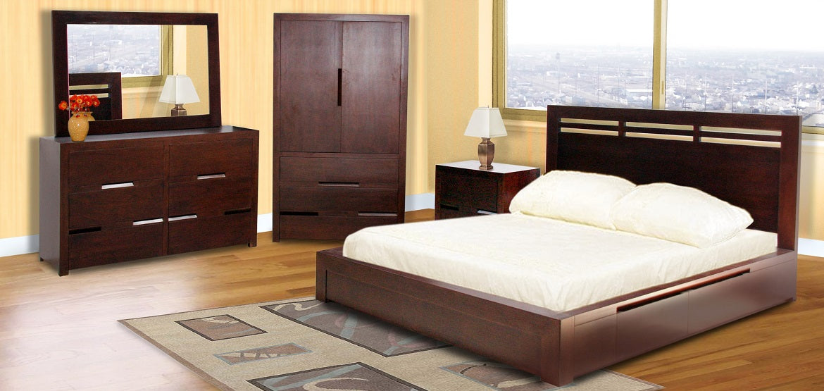 Solid Wood Frame And Front Bedroom Furniture