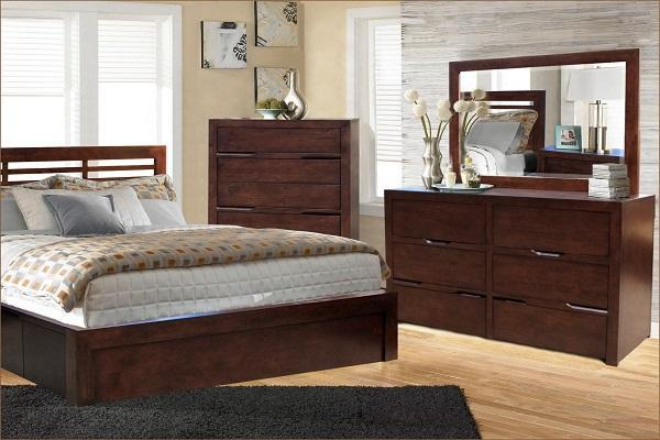 6 Piece Queen Solid Wood Frame And Fronts Bedroom Furniture Elm Clearout