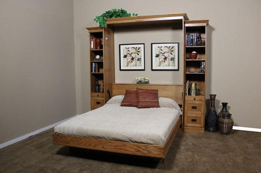 Mission Solid Hardwood Wall Bed Open