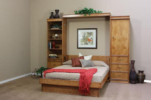 Portola Solid Hardwood Wall Bed Sunset Birch Open