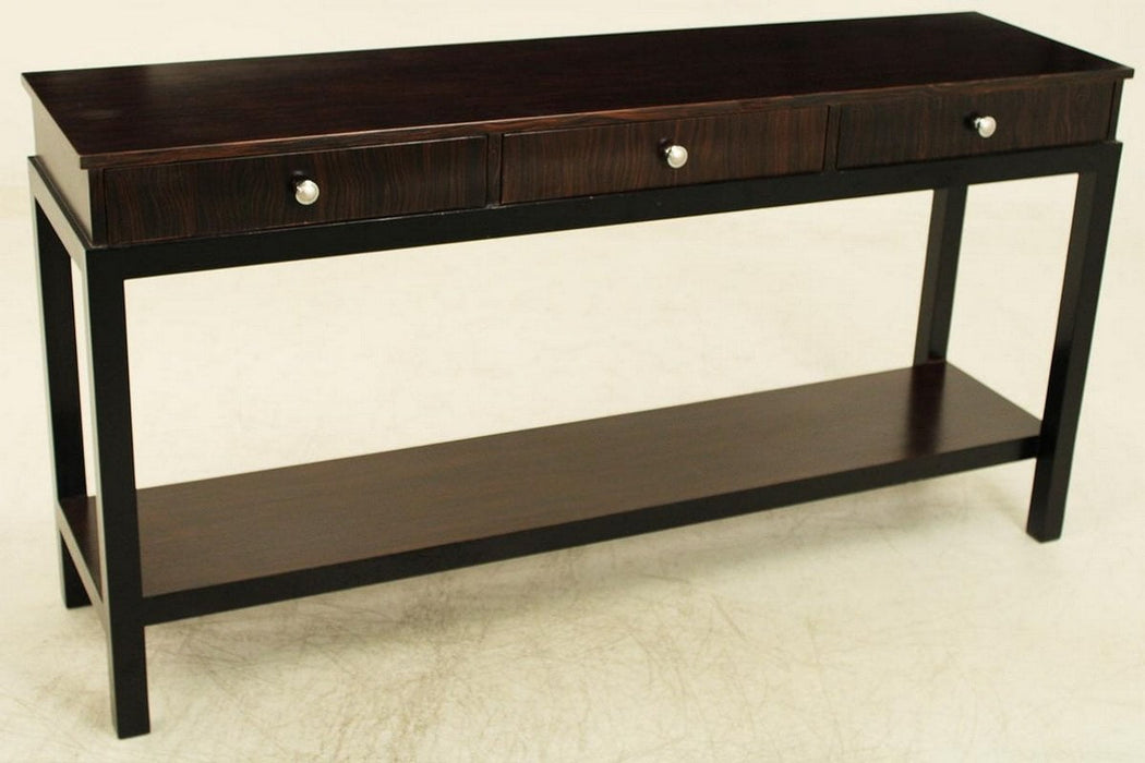 Best Sleep Centre Opportunity Buys Wayfair Returns Lot 652 - Madagascar Ebony Veneer 3 Drawer Console/Sofa/Entrance Table