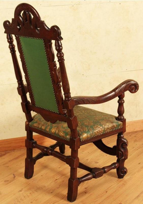 Best Sleep Centre Opportunity Buys Wayfair Returns Antique Lot 664 - French Walnut Hand Carved Scroll Armchair Circa 19th Century 363 Years Old