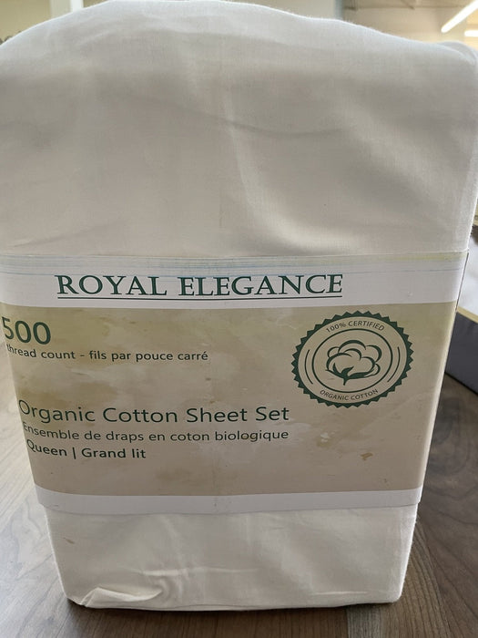 Best Sleep Centre Sheets Queen / White 500 Thread Count Luxury Organic Cotton Sheet Sets
