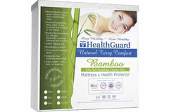 BSC Direct Sleep Accessories HealthGuard™ Terry Bamboo Mattress Protector