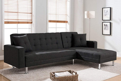 Milton Greens Stars Opportunity Buys Wayfair Returns Aria Klik Klak Reversible Sectional Sofa W/ Bed Black