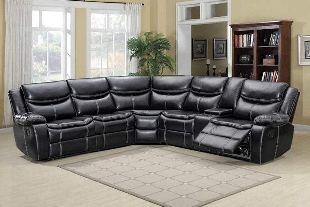 Milton Greens Stars Opportunity Buys Wayfair Returns Luca Air Leather Reversible Pillow Top Sectional Sofa Black