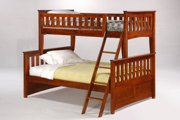 Night and Day Furniture Bunk Beds Cherry / Yes Ginger Bunk Bed Twin Over Full
