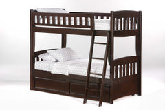 Night and Day Furniture Bunk Beds Chocolate / Yes Cinnamon Twin Over Twin Bunk Bed
