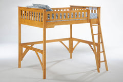 Night and Day Furniture Bunk Beds Medium Oak / No Ginger Full Loft Bed
