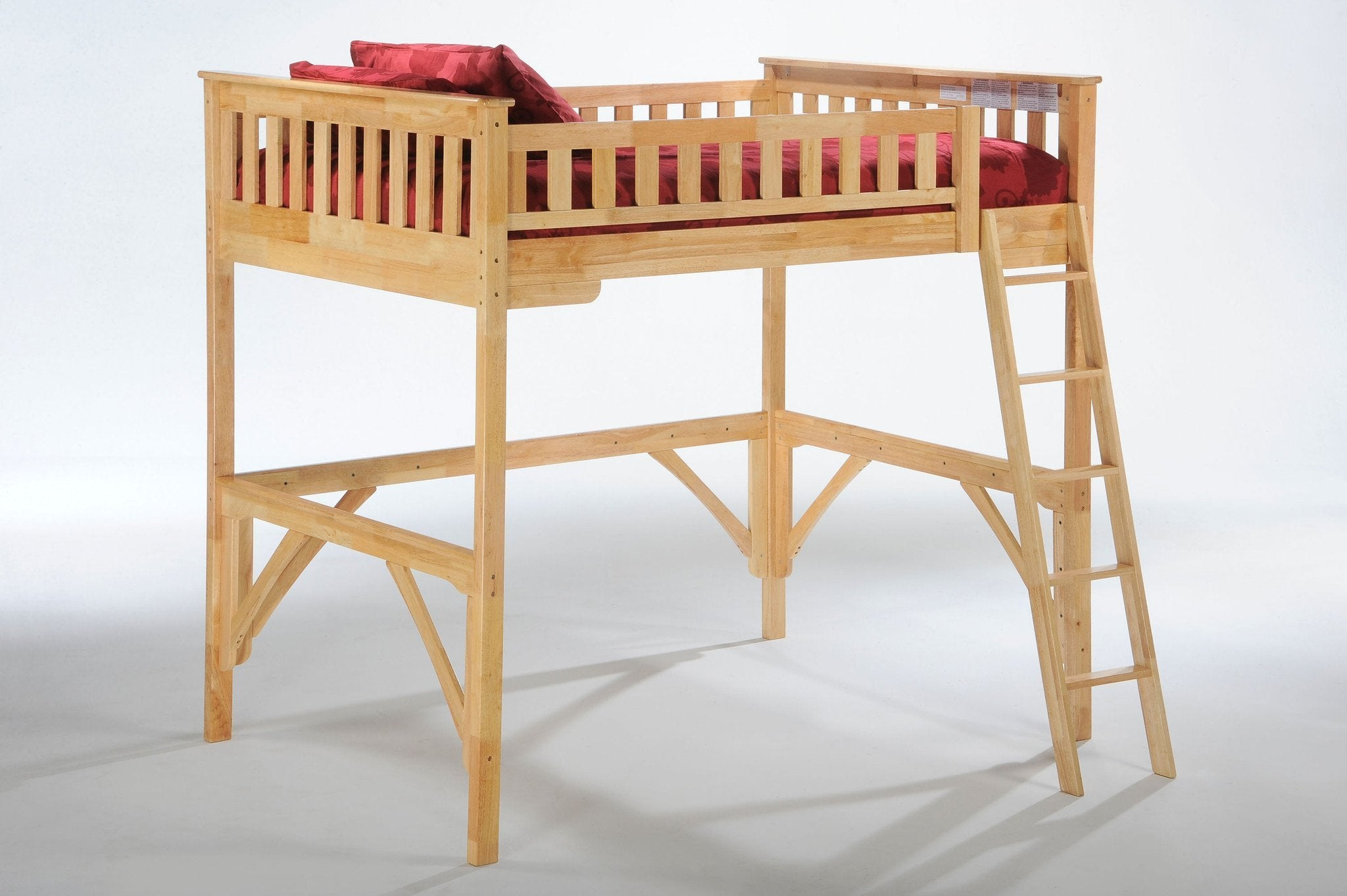 Night and Day Furniture Bunk Beds Natural / No Ginger Full Loft Bed