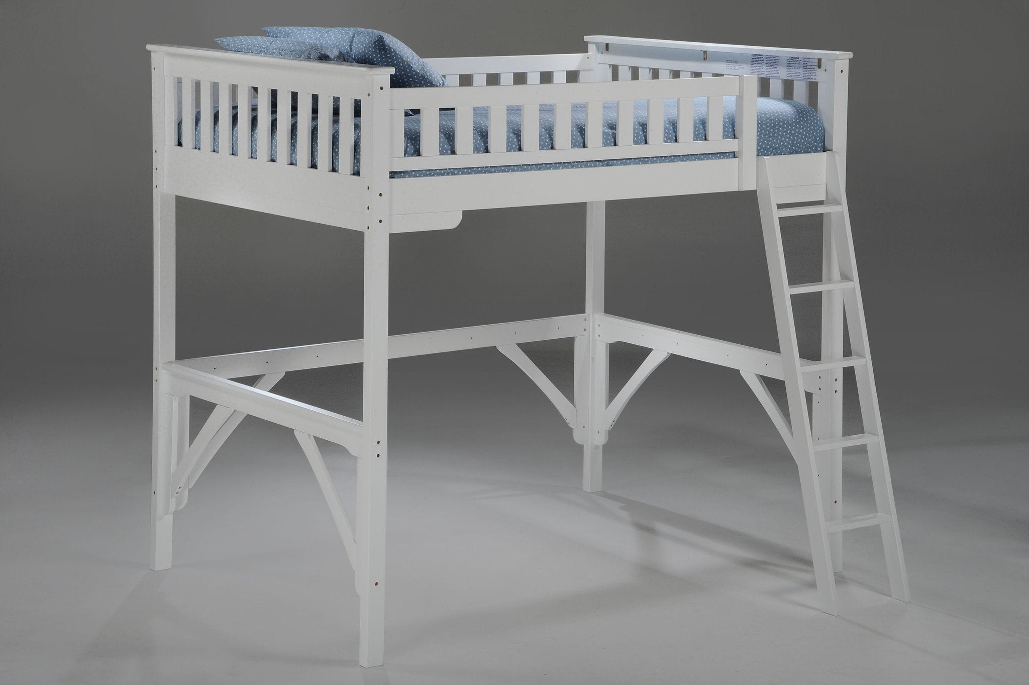 Night and Day Furniture Bunk Beds White / No Ginger Full Loft Bed
