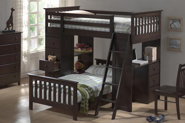 Night and Day Furniture Kids Bedroom Furniture Chocolate / Yes Huckelberry