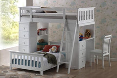 Night and Day Furniture Kids Bedroom Furniture White / Yes Huckelberry