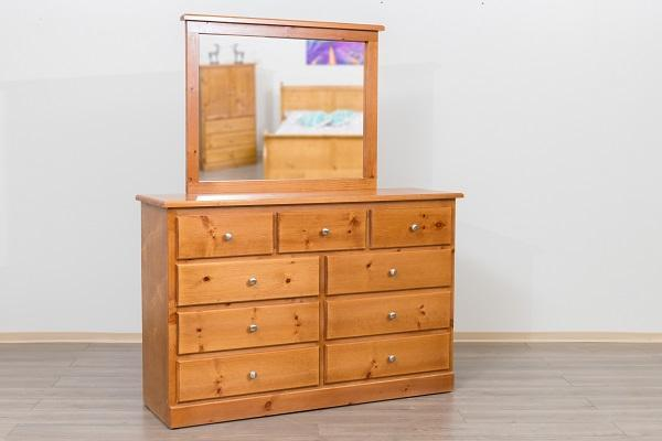 Pineridge Solid Wood Pine Bedroom Furniture Solid Wood Pine Bedroom Furniture 9 Drawer Dresser