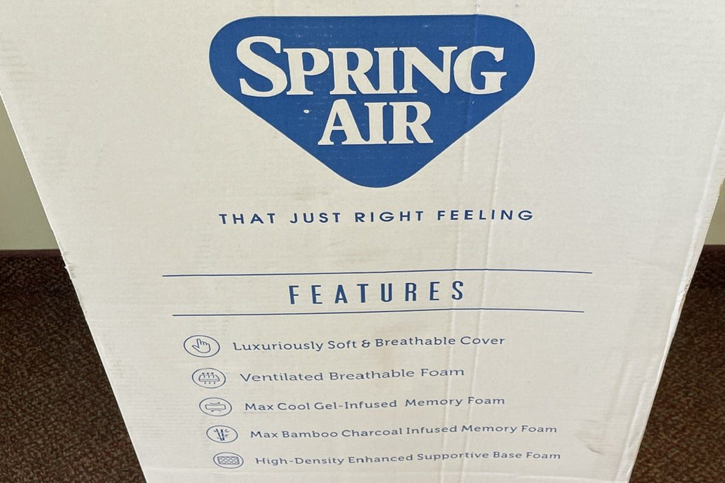 "Spring Air Opportunity Buys Wayfair Returns Twin Serene 10"" Cool Gel Twin Memory Foam - ONLY 1 LEFT"