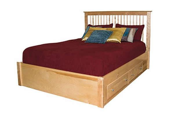 Solid Hardwood Bedroom Furniture - Stratford HP Spindle Platform Bed