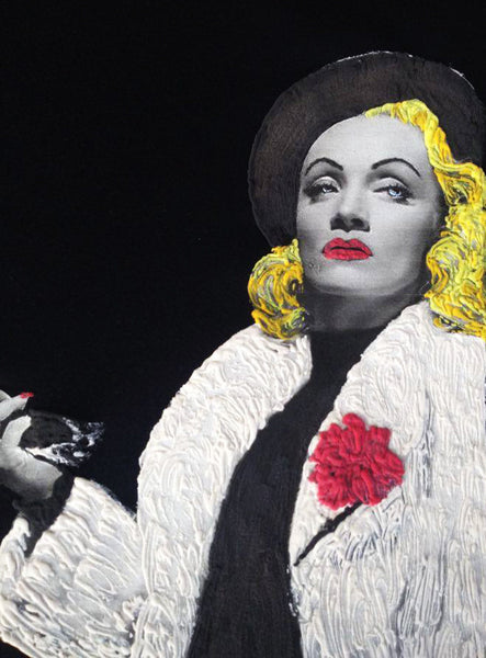 Another Great Woman Painted 3d on my T-shirts: Marlene Dietrich