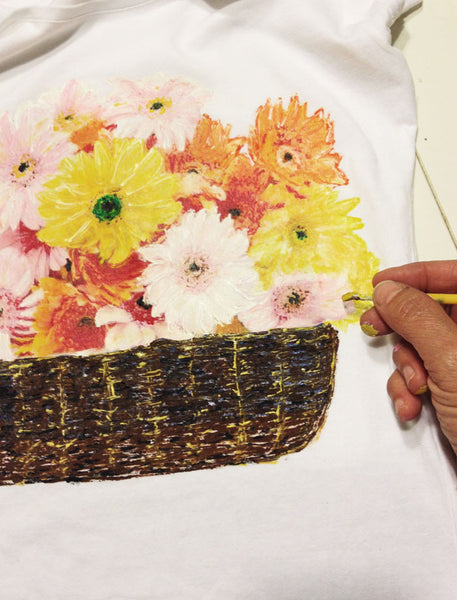 The Power of flowers on my Painted 3d T-shirts