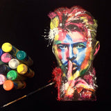 David Bowie Artistic t shirt colorful neon for sale