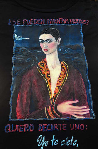 frida kahlo self portrait in a velvet dress artistic t shirt
