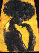 "Afro T-shirt Afrocentric t shirt ""BLACK IS GOLD"" Painted 3d African shirt - Quortshirts"