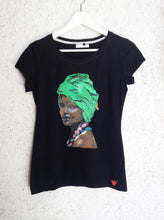 African Queen T-shirt PAINTED 3D Afro Lady Black Girl Artistic T shirt - Quortshirts