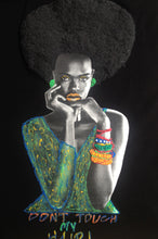 Afro T-shirt  Painting 3d Natural Hair Curly - Quortshirts