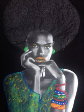 Afro Black Queen T shirt PAINTED 3D  Natural Hair T-shirt - Quortshirts