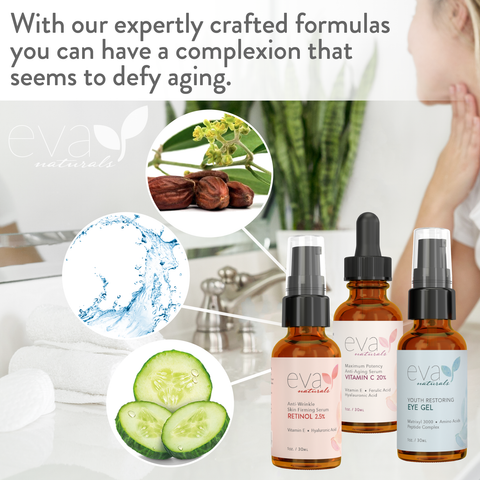 Facelift Serum In A Bottle Set: Retinol, Vitamin C, & Eye Gel