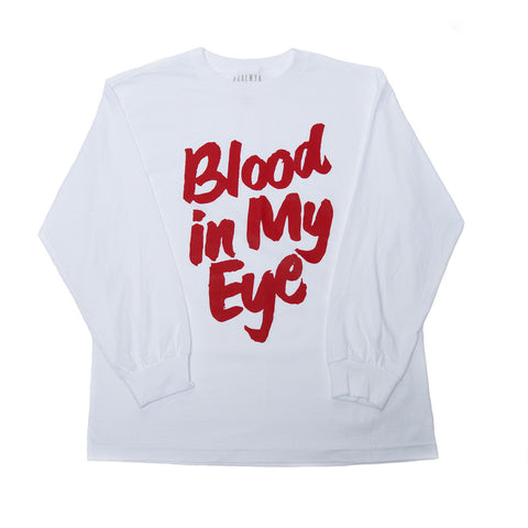 """Blood"" L/S Tee (White)"