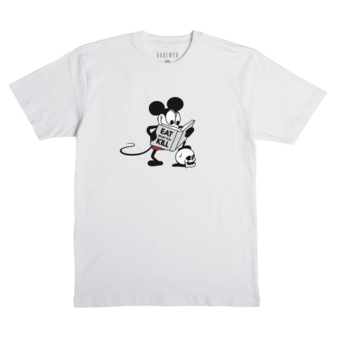 """Mouse"" S/S Tee (White)"