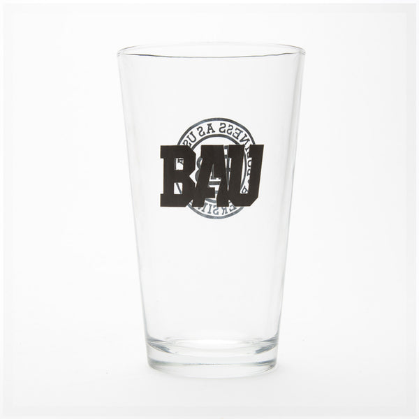 """Work Logo"" Pint Glass"