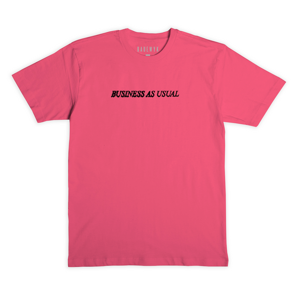 """Dem No Worry We"" S/S Tee (Coral)"