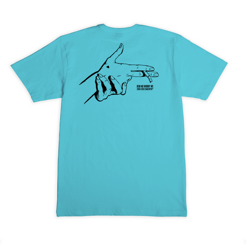 """Dem No Worry We"" S/S Tee (Pacific Blue)"