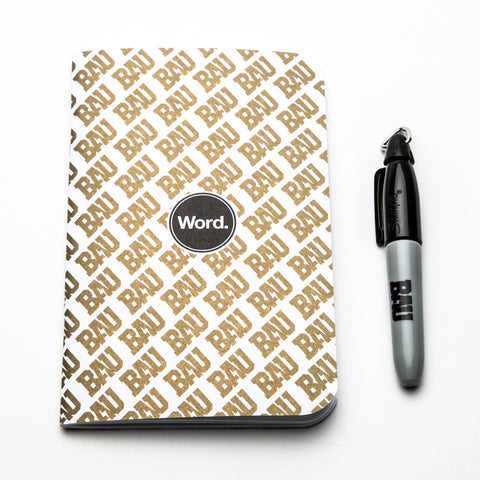 B.A.U. x Word Notebooks x Sharpie