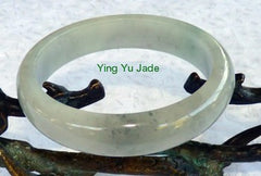 """Smoky Hues"" Old Mine Jadeite Bangle Bracelet 57.5mm (BB2683)"