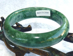 """Powerful Woman"" Burmese Jadeite Grade A Bangle Bracelet 58 mm + Certificate (3088)"