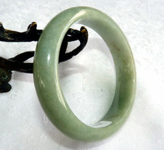 Good Green Burmese Jadeite Grade A Bangle Bracelet 58.5 mm + Certificate (G4786)