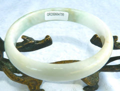 """Calm Your Spirit"" Burmese Jadeite Bangle Bracelet 58.8  mm Grade A + Certificate (G4785)"