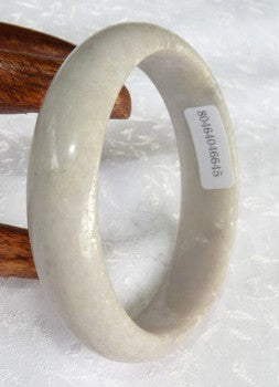 Clearance-Rough Lightly Polished Grade A Jadeite Jade Bangle Bracelet 53mm + Certificate (645)