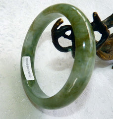 Good Green All Around Burmese Jadeite Bangle Bracelet 55 mm Grade A + Certificate (659)