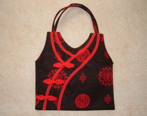 "Red ""Chongsam"" Style Chinese Silk Purse"