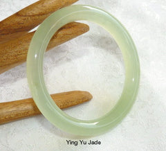 Pure Natural Round Chinese Jade Baby / Child Bangle 47mm